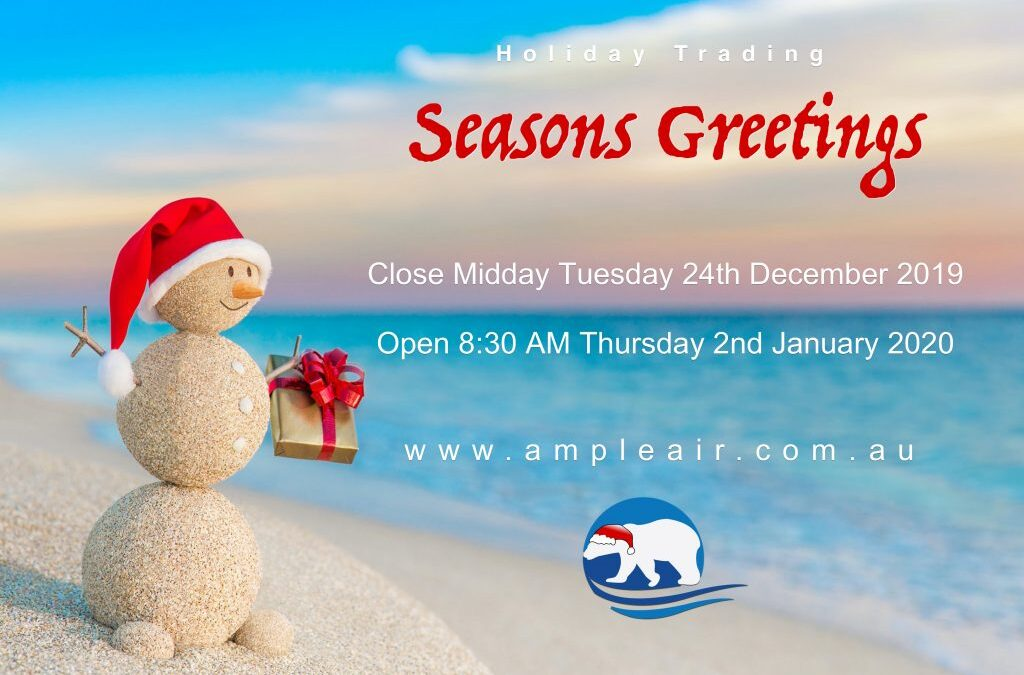 2019 Holiday Period Closure